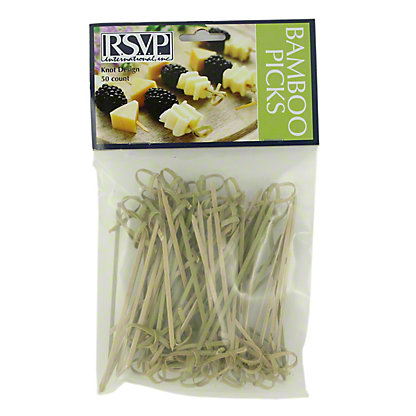 RSVP INTERNATIONAL Bamboo Knot Picks 4.5 In,EACH
